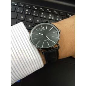 Relógio Analógico Masculino Luxo Ck + Caixa + Brinde + Frete