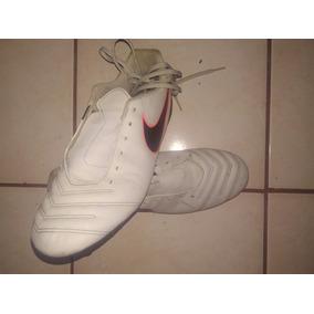 Taquetes-zapatillas De Futbol Nike Tiempo Gris C  Negro 4a5d78ab1c85a