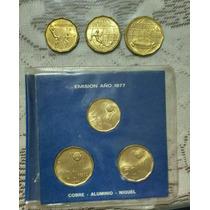 3 Monedas Del Mundial 78 Argentina Año 1977