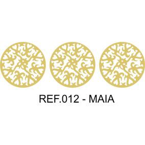 de418ad0d92 Trio Quadros Mandalas Maia Mdf Crú Escultura Parede 30cm