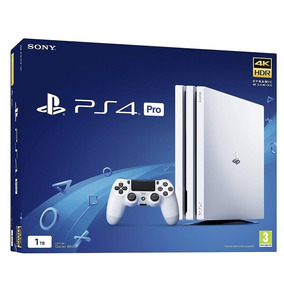 Playstation 4 Pro 1tb Branco Sony Ps4 12x S/juros