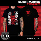 Remera Marilyn Manson - Two Faces