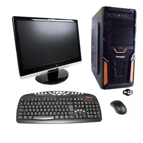 Computador Gamer 4gb Hd 500gb Monitor Lcd 19