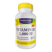 Vitamina D3 5.000 Iu 360 Softgels -  Healthy Origins
