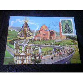 Postal Aparecida Nova E Velha Basilica Com Passarela