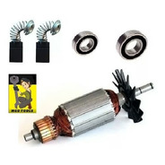 Kit Rotor + Rolamentos + Carvao Para Serra Marmore 4100nh