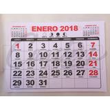 Taco Calendario 2018 1/4 Mensual - 100 Un.