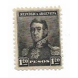 Estampilla Argentina: $1,20- 1892/95 Tres Próceres Gj#187