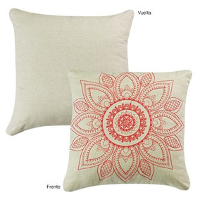 Cojin Decorativo Hindu Bordado Vianney Envio Gratis
