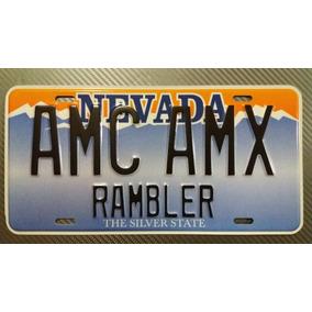 Placa Rambler Amx Rally Javelin Matador American Gremlin Vlm