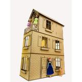Casita De Muñecas Barbie Fibrofacil Con 16 Muebles Macetas