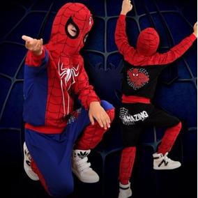 Traje De Hombre Araña Spiderman Talla De 8 Años Color Rojo