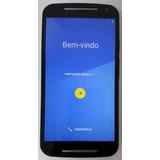 Smartphone Moto G2 Xt1069 16gb Dual 8mp Semi Novo Tampa Azul