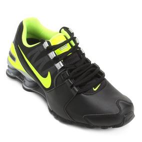 Tênis Nike Shox Avenue Ltr - Preto E Verde - Original