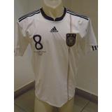 Camiseta Selección Alemania España Mundial 2010 Ozil #8 M- L
