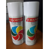 Spray Negro Brillante Mate Plata Brillante Champions