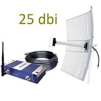 Repetidor Sinal Celular 3g Aquário Rp2170 70db Antena 25 Dbi