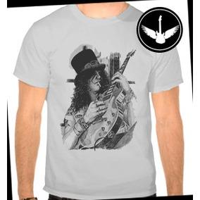 Camiseta Slash Guns N Roses Banda Hard Rock Ou Baby Look