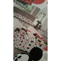 Colcha Piquet Casal Mickey Mouse