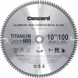 Disco De Corte Concord 10 Pulgadas 100 Dientes Aluminio