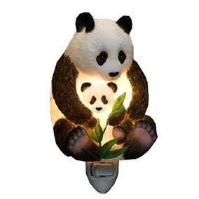 Ibis Orquídea Diseño Del Oso De Panda De La Madre Y Cub Luz