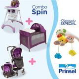 Combospin Morado Silla+carriola+corral+movil Prinsel