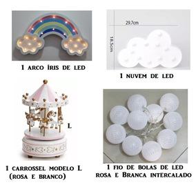 Nuvem Arco Iris Cordão De Bola Carrossel Musical