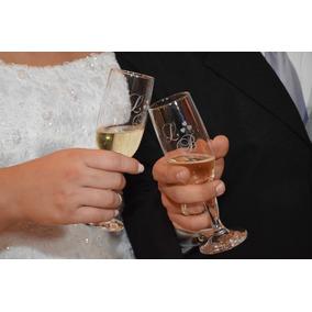 Taça Personalizada Para Casamento - Noivos, Padrinhos