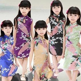 Vestido Japones Infantil Cheongsam 602