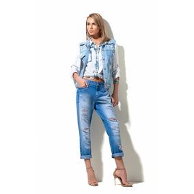 Calça Jeans Feminina Destroyed Morena Rosa Ref: 202914