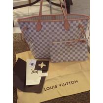 Louis Vuitton Neverfull Damier Azur Mm Lv Bolsa!!!