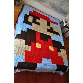 Cobija Mario Bross Tejida A Crochet Individual