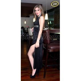 Vestido Negro Largo Coctel Elegante Gala Noche Graduacion