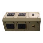 Pack De 2 Periscopios Metalicos De 6 Bocas Cableado Cat 5 E