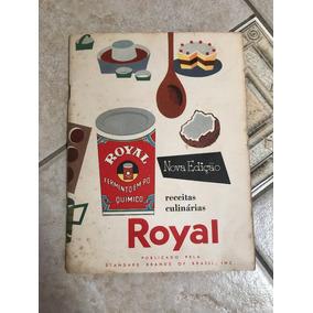 Antigo Livreto De Receitas Culinárias Royal