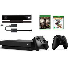 Xbox One X 1tb Kinect 2 Controles 2 Jogos 2 Baterias 2 Fones