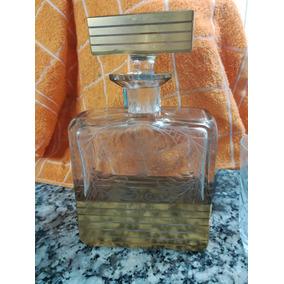 Licorera-whiskera Antigua Cristal Tallado (plata/baño Oro)