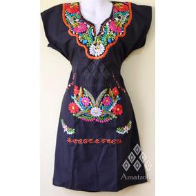 Lote 12 Vestidos Artesanales Mexicanos Y Tulipanes Bordados