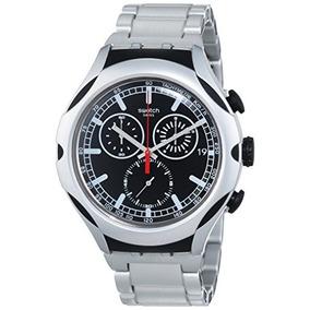 Swatch Mens Yys4000ag Irony Analog Display Swiss Quartz Silv