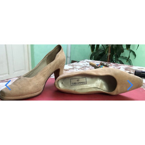 Zapatos Taco 37,50 Cuero Nobuk Gabrielli Color Rosabeige