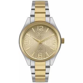 778e28f5298 Relogio Todo Dourado Fundo Metalico Feminino - Relógios De Pulso no ...