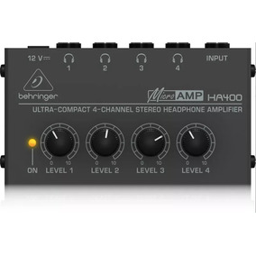 Amplificador De Fones Behringer Power Play Ha400 Ha 400 Novo