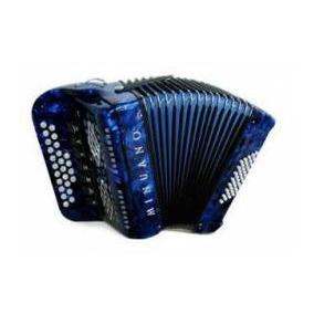 Acordeon 40 Baixos Minuano 7 Reg. 40/25 Azul (gaita Ponto)