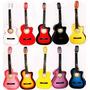 Guitarra Acustica Funda Afinador Tahali Plumillas Cuerdas +