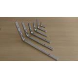 Suportes Para Prateleiras Em Alumínio - Mão Francesa - 10cm