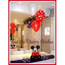 Centro De Mesa Globos Mickey Minnie Helio