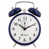 2208 - Relógio Despertador Antigo Mecânico A Cordas Herweg