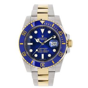 Reloj Rolex Submariner Steel 18k Yellow Gold Blue Ceramic