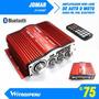 Amplificador Stereo 60+60w Jomar, Microfono,usb,sd, Bluetoth