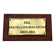 Placa Profesional. Estudios Juridicos, Contables. 30x20cm.
